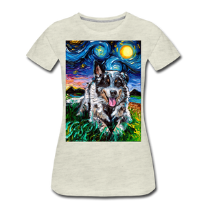 Australian Cattle Dog Night Women's Premium T-Shirt - heather oatmeal