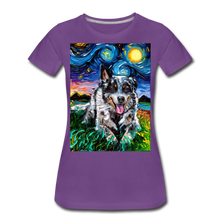 Load image into Gallery viewer, Australian Cattle Dog Night Women's Premium T-Shirt - purple