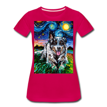 Load image into Gallery viewer, Australian Cattle Dog Night Women's Premium T-Shirt - dark pink