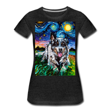 Load image into Gallery viewer, Australian Cattle Dog Night Women's Premium T-Shirt - charcoal gray