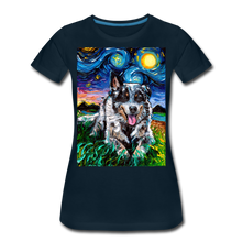 Load image into Gallery viewer, Australian Cattle Dog Night Women's Premium T-Shirt - deep navy