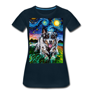 Australian Cattle Dog Night Women's Premium T-Shirt - deep navy