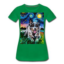 Load image into Gallery viewer, Australian Cattle Dog Night Women's Premium T-Shirt - kelly green