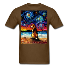 Load image into Gallery viewer, Beagle Night 2 Unisex Classic T-Shirt - brown