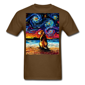 Beagle Night 2 Unisex Classic T-Shirt - brown