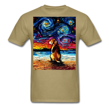 Load image into Gallery viewer, Beagle Night 2 Unisex Classic T-Shirt - khaki