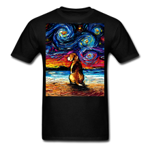 Load image into Gallery viewer, Beagle Night 2 Unisex Classic T-Shirt - black
