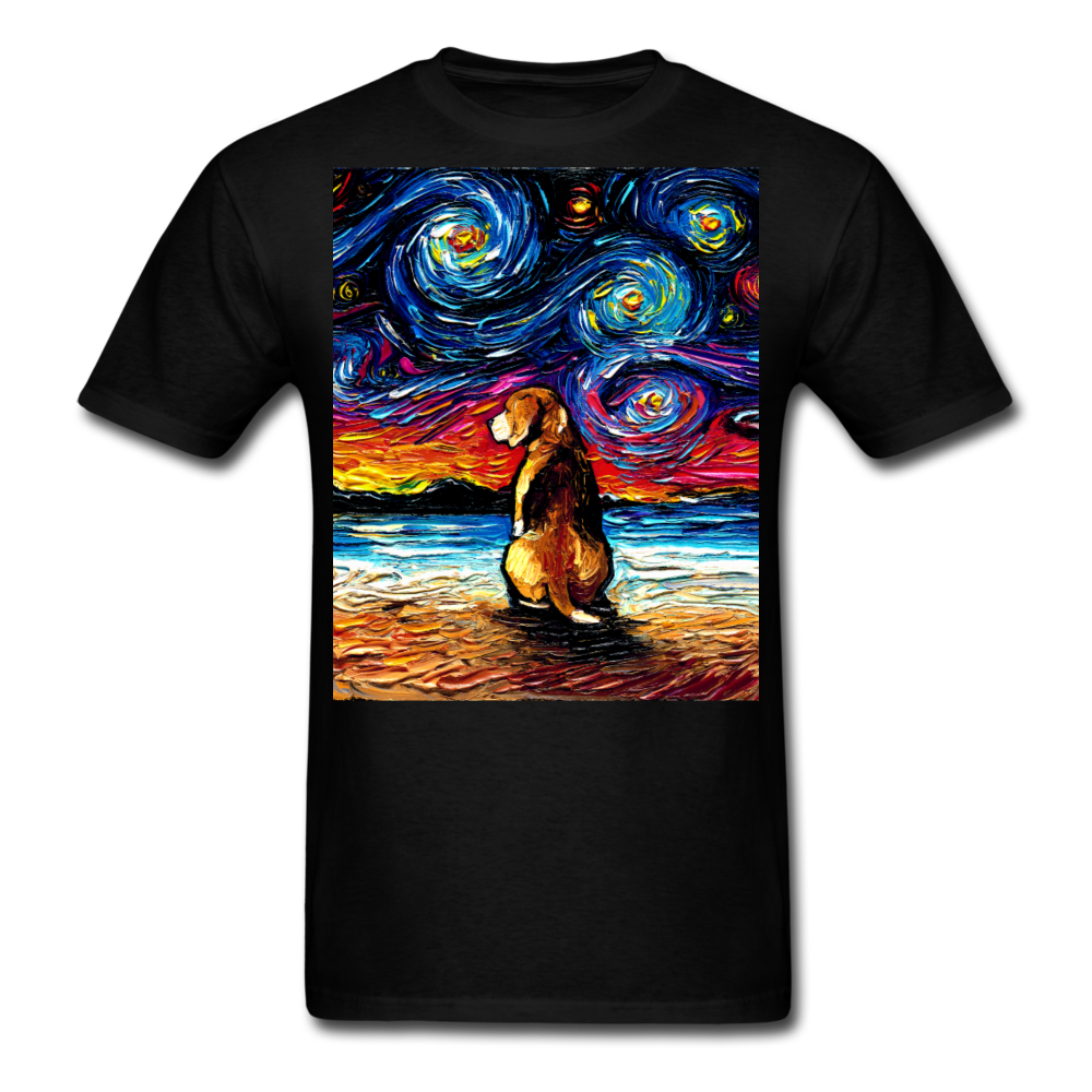Beagle Night 2 Unisex Classic T-Shirt - black