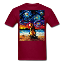 Load image into Gallery viewer, Beagle Night 2 Unisex Classic T-Shirt - burgundy