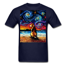 Load image into Gallery viewer, Beagle Night 2 Unisex Classic T-Shirt - navy