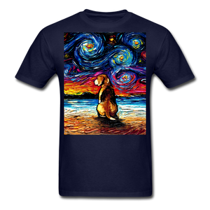 Beagle Night 2 Unisex Classic T-Shirt - navy