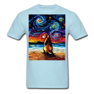 Beagle Night 2 Unisex Classic T-Shirt - powder blue