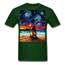 Load image into Gallery viewer, Beagle Night 2 Unisex Classic T-Shirt - forest green