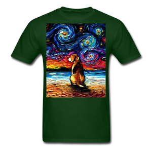 Beagle Night 2 Unisex Classic T-Shirt - forest green