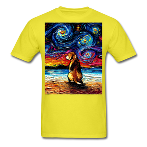 Beagle Night 2 Unisex Classic T-Shirt - yellow