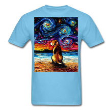 Load image into Gallery viewer, Beagle Night 2 Unisex Classic T-Shirt - aquatic blue