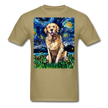 Load image into Gallery viewer, Golden Retriever Night Unisex Classic T-Shirt - khaki