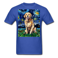 Load image into Gallery viewer, Golden Retriever Night Unisex Classic T-Shirt - royal blue