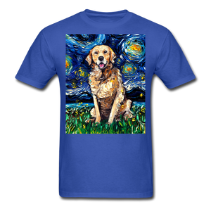 Golden Retriever Night Unisex Classic T-Shirt - royal blue