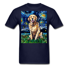 Load image into Gallery viewer, Golden Retriever Night Unisex Classic T-Shirt - navy