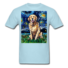Load image into Gallery viewer, Golden Retriever Night Unisex Classic T-Shirt - powder blue