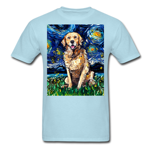 Golden Retriever Night Unisex Classic T-Shirt - powder blue