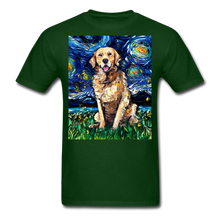 Load image into Gallery viewer, Golden Retriever Night Unisex Classic T-Shirt - forest green