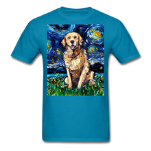 Load image into Gallery viewer, Golden Retriever Night Unisex Classic T-Shirt - turquoise