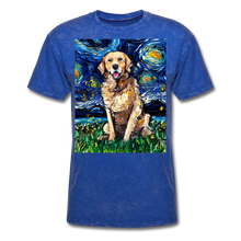 Load image into Gallery viewer, Golden Retriever Night Unisex Classic T-Shirt - mineral royal