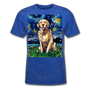 Golden Retriever Night Unisex Classic T-Shirt - mineral royal