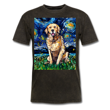 Load image into Gallery viewer, Golden Retriever Night Unisex Classic T-Shirt - mineral black