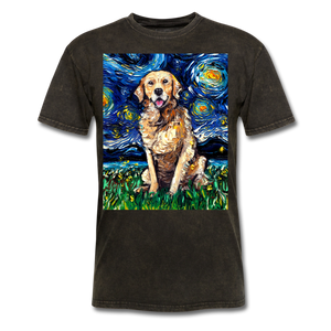 Golden Retriever Night Unisex Classic T-Shirt - mineral black