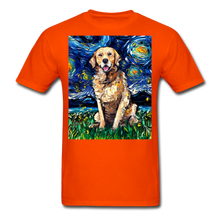 Load image into Gallery viewer, Golden Retriever Night Unisex Classic T-Shirt - orange