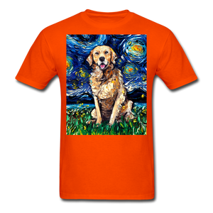 Golden Retriever Night Unisex Classic T-Shirt - orange
