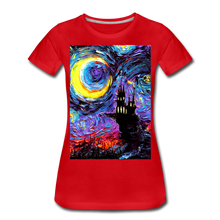 Load image into Gallery viewer, The Haunting of van Gogh Women's Premium T-Shirt - red