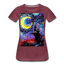 Load image into Gallery viewer, The Haunting of van Gogh Women's Premium T-Shirt - heather burgundy