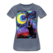 Load image into Gallery viewer, The Haunting of van Gogh Women's Premium T-Shirt - heather blue