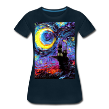 Load image into Gallery viewer, The Haunting of van Gogh Women's Premium T-Shirt - deep navy