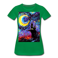 Load image into Gallery viewer, The Haunting of van Gogh Women's Premium T-Shirt - kelly green