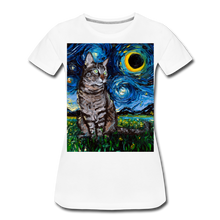 Load image into Gallery viewer, Tabby Night Women's Premium T-Shirt - white