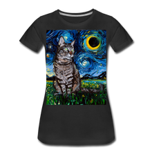 Load image into Gallery viewer, Tabby Night Women's Premium T-Shirt - black