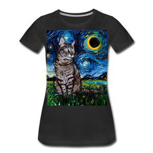 Tabby Night Women's Premium T-Shirt - black