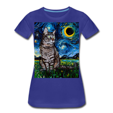 Load image into Gallery viewer, Tabby Night Women's Premium T-Shirt - royal blue