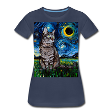 Load image into Gallery viewer, Tabby Night Women's Premium T-Shirt - navy