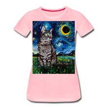 Load image into Gallery viewer, Tabby Night Women's Premium T-Shirt - pink