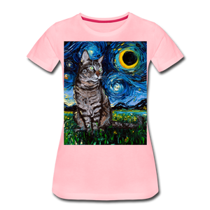 Tabby Night Women's Premium T-Shirt - pink