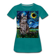Load image into Gallery viewer, Tabby Night Women's Premium T-Shirt - teal