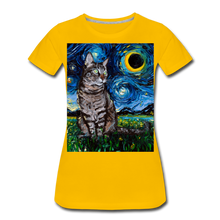 Load image into Gallery viewer, Tabby Night Women's Premium T-Shirt - sun yellow