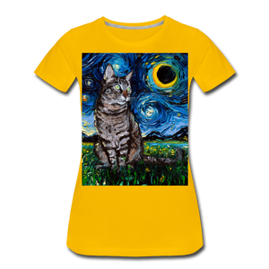 Tabby Night Women's Premium T-Shirt - sun yellow