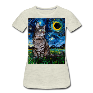 Tabby Night Women's Premium T-Shirt - heather oatmeal